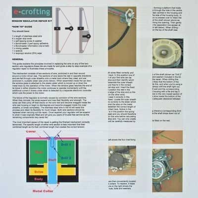 freelander rear window regulator repair kit instructions